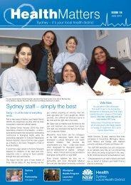 HealthMatters August 2012 - Sydney Local Health District