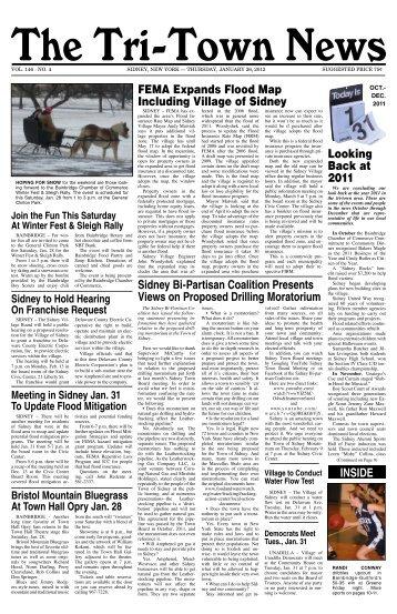Jan. 26, 2012 - The Tri-town news