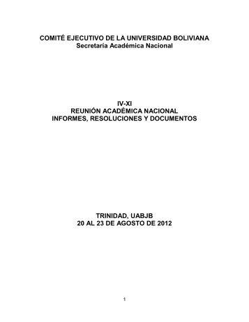 presentación - Comité Ejecutivo de la Universidad Boliviana