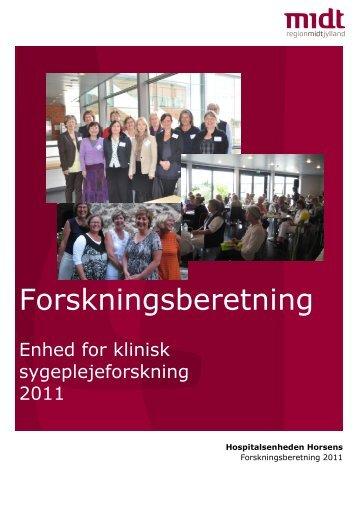Forskningsberetning 2011 - Hospitalsenheden Horsens