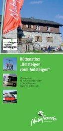 """Hüttenatlas """"Umsteigen vorm Aufsteigen"""" - Termine... - Naturfreunde"""