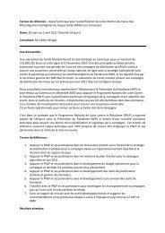 Termes de référence – Appui technique pour la planification de la ...