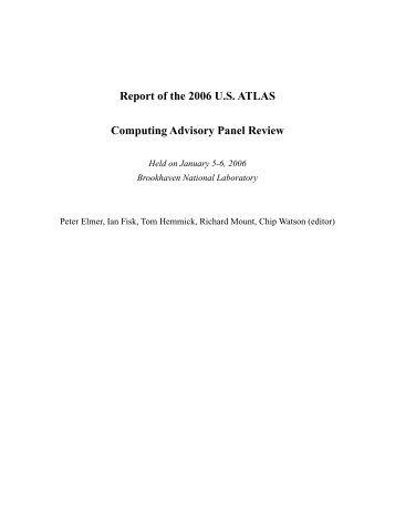 Final report - US Atlas - Brookhaven National Laboratory