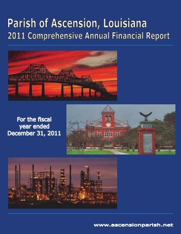 2011 Comprehensive Annual Financial Report - Ascension Parish
