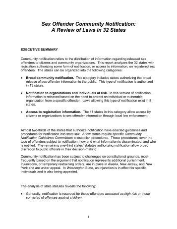 Washington state sex offender law