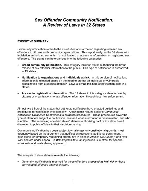 The question Washington state sex offender law speaking, opinion