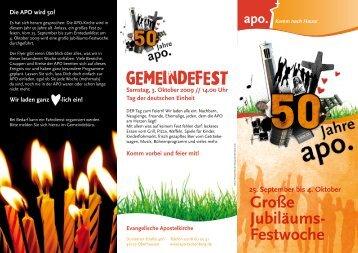 Große Jubiläums- Festwoche gemeindefest - Evangelische ...