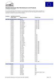 EC Energy Star registered manufacturers and ... - eu energy star