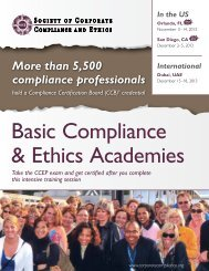 Basic Compliance & Ethics Academies - Society of Corporate ...