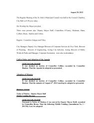 Council Minutes Monday, August 20, 2012 - City Of St. John's