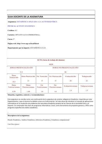 Estadística Aplicada a la Actividad Física - AgA System