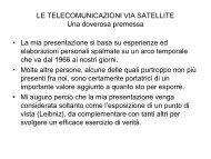 LE TELECOMUNICAZIONI VIA SATELLITE