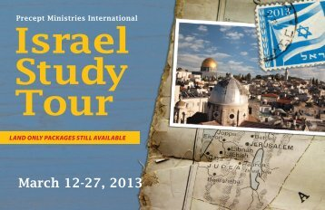 Israel Study Tour - Precept Ministries