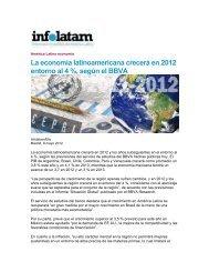 La economía latinoamericana crecerá en 2012 entorno al 4 ...