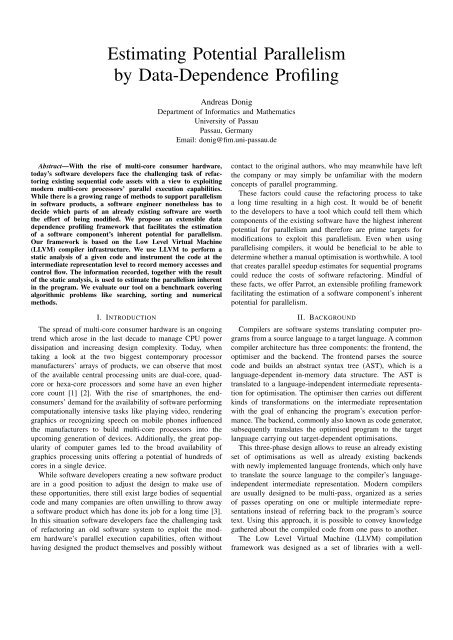 Estimating Potential Parallelism by Data-Dependence Profiling