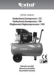 Vzduchový kompresor / CZ Vzduchový kompresor / SK Olajkenésű ...