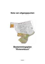 Bijlage 1 Nota van uitgangspunten bestemmingsplan Rivierenbuurt