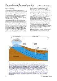 Groundwater flow and quality - The UK Groundwater Forum