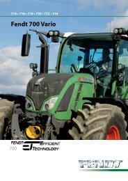 Prospekt Fendt 700 Vario - Maszyny rolnicze
