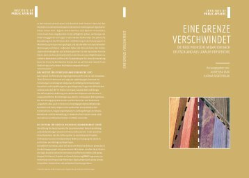 EINE GRENZE VERSCHWINDET - Instytut Spraw Publicznych