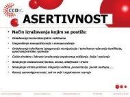 Seminar-Asertivnost - Razvoj karijere