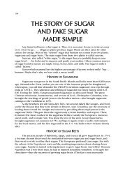 the story of sugar and fake sugar made simple - Jacobson Chiropractic