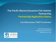 Pacific Marine & Estuarine Partnership.pdf - National Fish Habitat ...