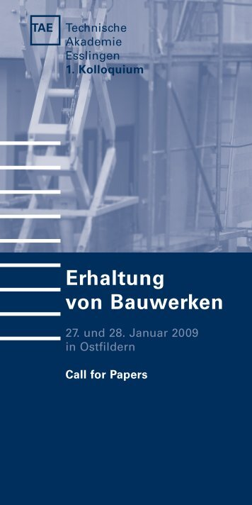 Erhaltung von Bauwerken - IBAC - RWTH