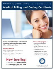 Medical Billing and Coding Flyer - National University