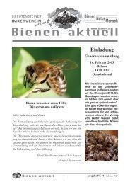 Bienen-aktuell Nr. 71.indd - Liechtensteiner Imkerverein