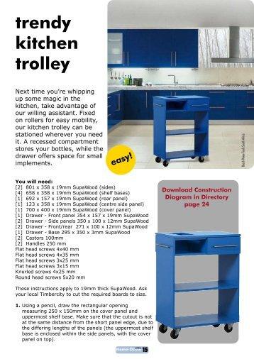 trendy kitchen trolley - Home-Dzine