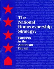 President Clinton's National Homeownership Strategy