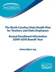 The North Carolina State Health Plan for Teachers and State ...