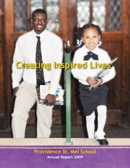 2009 Annual Report - Providence St. Mel