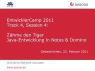 Java-Entwicklung in Notes und Domino.pdf - EntwicklerCamp