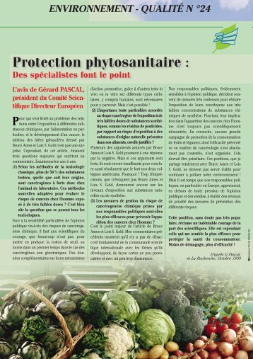 Protection phytosanitaire - Cerafel