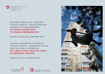 Projets urbains - Bundesamt für Raumentwicklung ARE - admin.ch