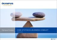 Code of Ethics and Business Conduct zum Download - Olympus