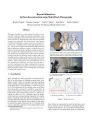 Surface Reconstruction using Multi-Flash Photography - CiteSeerX