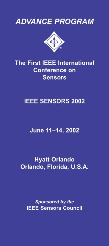 ADVANCE PROGRAM - IEEE Sensors Council