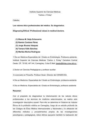 """Instituto Superior de Ciencias Médicas """"Carlos J. Finlay ... - SciELO"""