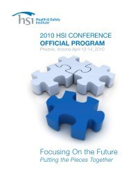 Putting the Pieces Together - Health & Safety Institute