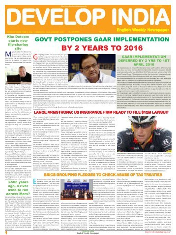 Develop India Year 5, Vol. 1, Issue 232, 13-20 January, 2013.pmd