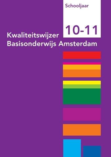 Kwaliteitswijzer Basisonderwijs Amsterdam - Gemeente Amsterdam