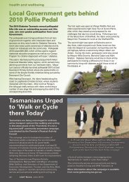 Health and Wellbeing - Local Government Association of Tasmania