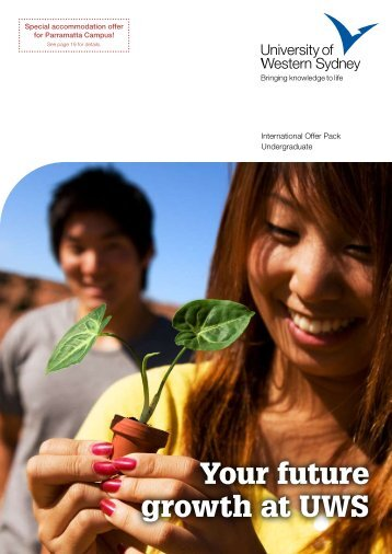 Your future growth at UWS - University of Western Sydney