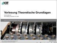 Vorlesung Theoretische Grundlagen - Entscheidbarkeit - IKS - KIT