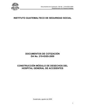 instituto guatemalteco de seguridad social documentos