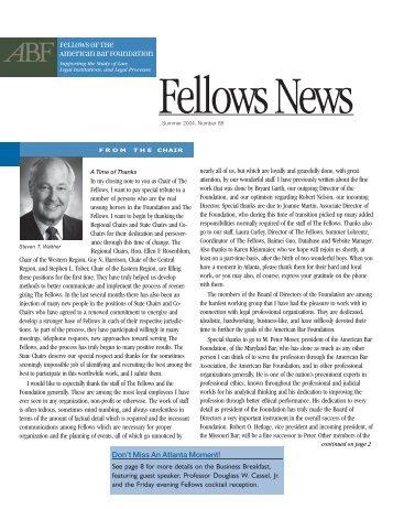 Summer 2004 - Issue 88 - American Bar Foundation