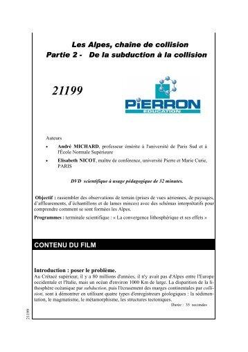 Les Alpes, chaîne de collision Partie 2 - De la subduction à ... - Pierron